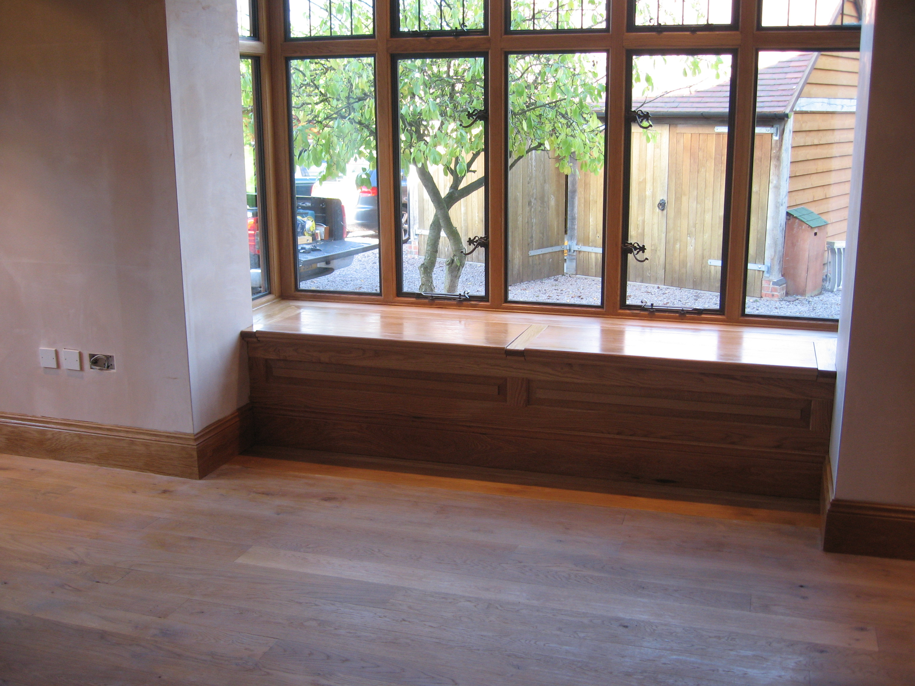 We also supplied and installed a storage box/window seat ...